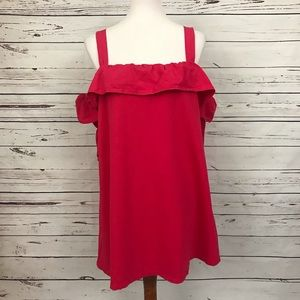 Zara Dresses - Zara Cold Shoulder Ruffled Dress Pink Size Small